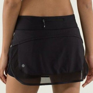 Lululemon Hotty Hot Running Skirt II Black sz 10